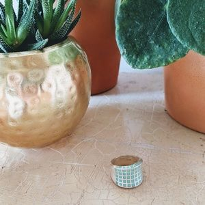 Turquoise and silver cocktail ring